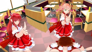 Sexy Dancing Anime Girls in Cafe with Blowjob SVP HentaiGirl vr porn video vrporn.com virtual reality
