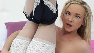 Dosed In Pantyhose - Blonde Stockings Solo VR Show RealityLovers Shanie Ryan VR Porn video vrporn.com