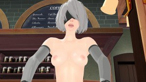 Nier Automata - Restaurant Cowgirl Lewd FRAGGY hentaigirl vr porn video vrporn.com virtual reality
