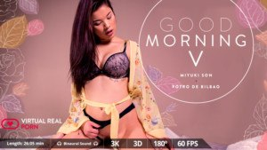Good Morning V VirtualRealPorn Miyuki Son vr porn video vrporn.com virtual reality