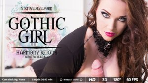 Gothic Girl VirtualRealPorn Harmony Reigns vr porn video vrporn.com virtual reality