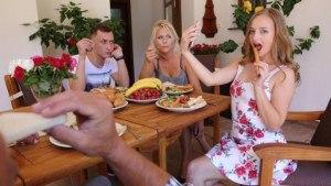 Family Dinner Dessert Gone Wrong VirtualTaboo Lady Bug Kathy Anderson vr porn video vrporn.com virtual reality