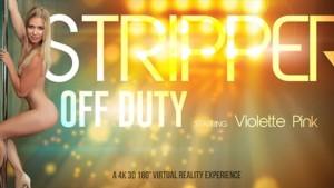 Stripper of Duty - European VR Striptease and Masturbation VRBangers Violette Pink vr porn video vrporn.com virtual reality
