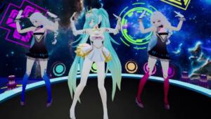Racing Girl Miku Clothing Optional Dance on Turn Table VRAnimeTed vr porn game vrporn.com virtual reality