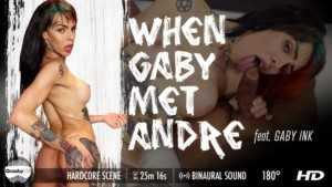 Gaby Ink in When Gaby Met Andre GroobyVR Gaby Ink vr porn video vrporn.com virtual reality