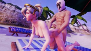 Overwatch - Mercy Beach Doggy Lewd FRAGGY vr porn video vrporn.com virtual reality