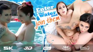 Threesome Pool RealJamVR Antonia Sainz Billie Star vr porn video vrporn.com virtual reality